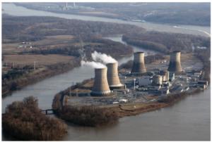 Emplazamiento de la Central de Three Mile Island en una isla en el río Susquehanna cerca de Harrisburg, estado de Pensilvania (EE.UU.)